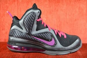 new product 3c4c2 7bd06 Image is loading WORN-TWICE-NIKE-LEBRON-9-MIAMI-KNIGHTS-Size-