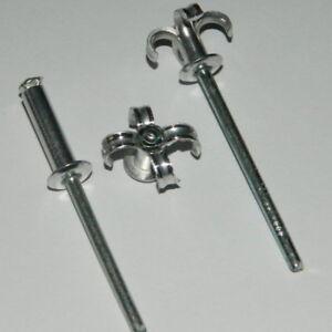 1000  Blindnieten 4,8x20 Alu//Stahl Flachkopf  Standard Nieten
