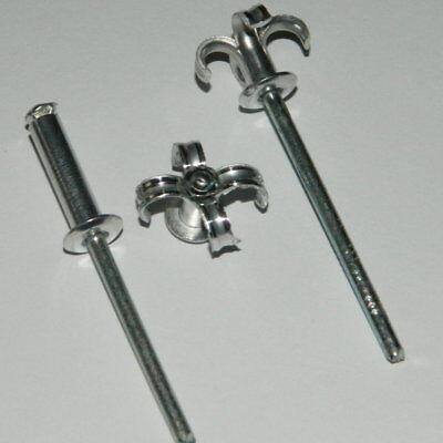 100 Stk Großkopf Blindnieten 4,8x20 K16 ALU//Stahl  Großkopfnieten