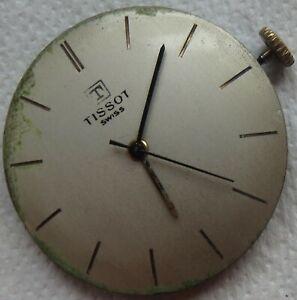 Tissot mens wristwatch movement & dial cal. 781 run but need service