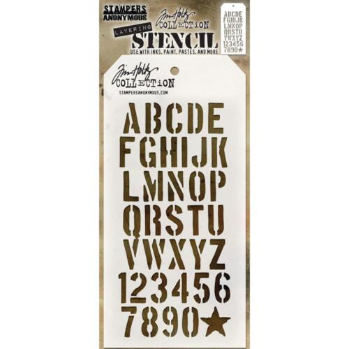Tim Holtz Layering Stencil ~ CRATE ~ THS089 ~ Stampers Anonymous