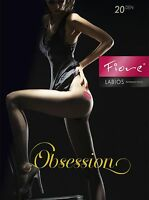 Fiore Labios Pantyhose Lipstick Kiss On Side Black 3 Sizes 20 Denier Sexxy
