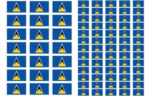 Lucia Flag Stickers rectangular 21 or 65 per sheet St