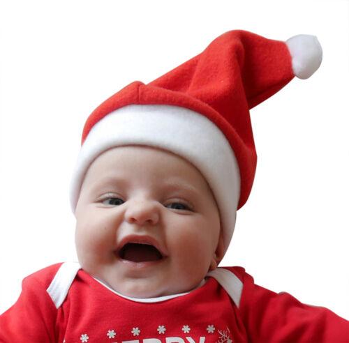 Navidad Bebé sombreros-Santa y Elf-Verde//Rojo Navidad bebé Sombreros