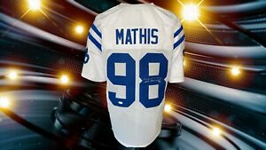 ROBERT MATHIS AUTOGRAPHED CUSTOM INDIANAPOLIS COLTS WHITE JERSEY ...