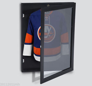 31-5-Hockey-Jersey-Display-Case-Frame-Shadow-Box-Football-Baseball-Black-Wood