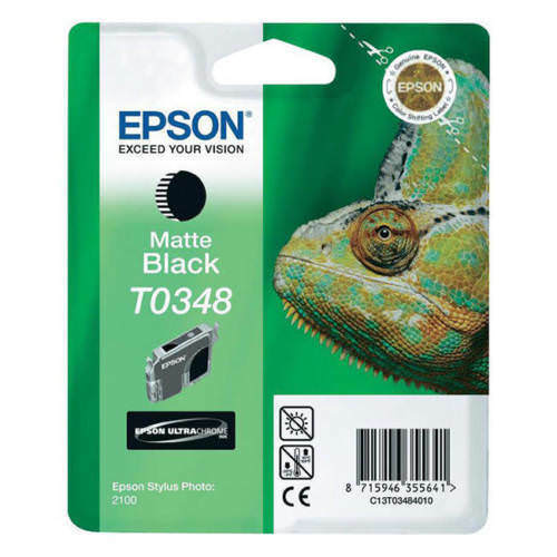 Original Epson T0348 Matt Black Ink Cartridge for Stylus Photo 2100