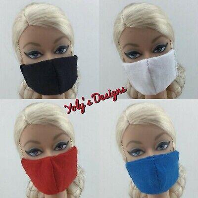 FITS Barbie Vintage,Silkstone /& Repro Doll 4 HANDMADE REVERSIBLE Dress Masks