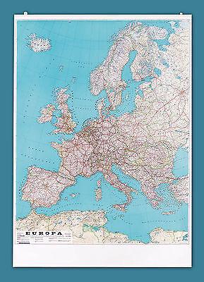 Cartina Geografica Europa Cm 100x140 Plastificata Antiriflesso Fronte/retro Ottima Qualità