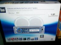 Dual Amcp400w Marine Cd Receiver With Weatherband Tuner And 6.5 Speakers
