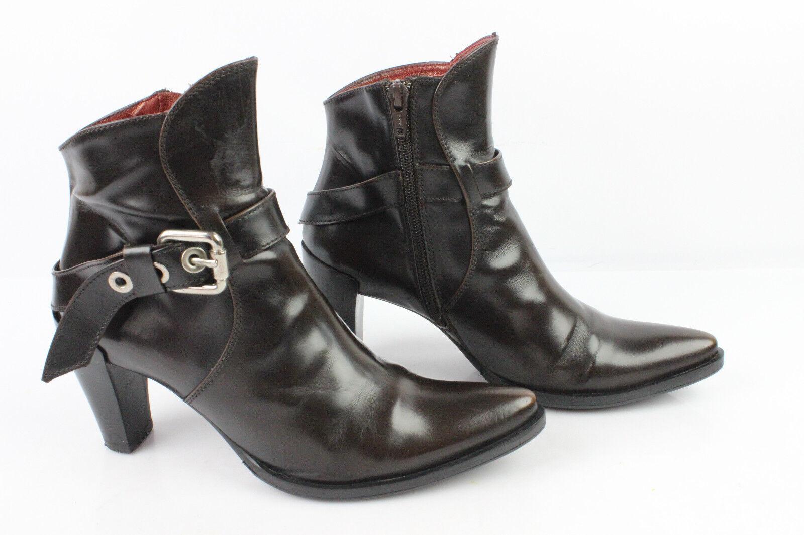 Bottines Boots MURATTI Tout Cuir Glacé brown T 36,5 TRES BON ETAT
