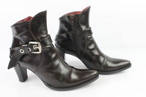 Bottines Boots MURATTI Tout Cuir Glacé Marron T 36,5 TRES BON ETAT ... cb649860ff42