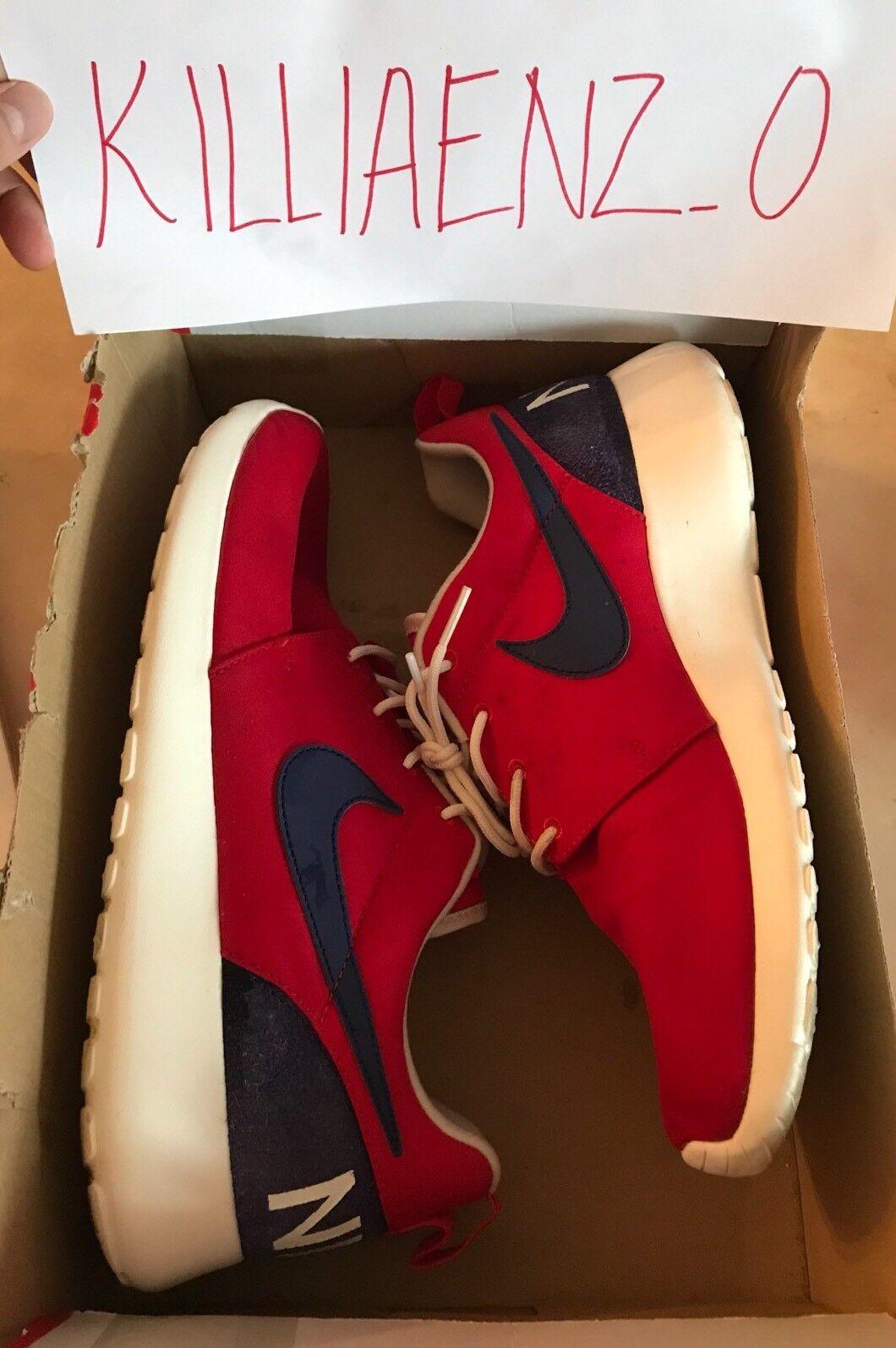 c001d643e0cd2 roshe chaussures un nike rouge un chaussures dispositif hommes nous sz 9,5  100%