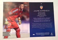 2016 Topps UEFA Champions League 5x7 GOLD (#/10) JAUME DOMENECH Valencia #194