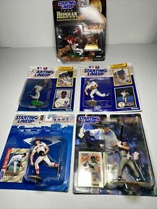 (5) Starting Lineup LOT- Nolan Ryan Mike Piazza Roger Clemens Kelly Collectible