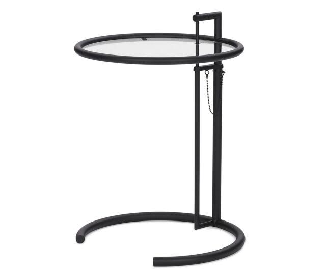 ClassiCon E1027 Adjustable Table Eileen Gray schwarz Beistelltisch Black Edition