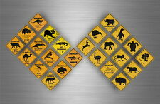 24x Sticker decal warning car scrapbooking macbook road sign warning australia