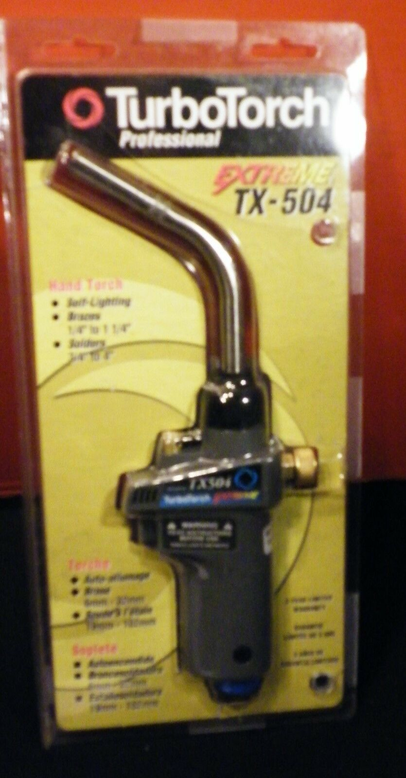 TURBO TORCH TX 504 HAND TORCH MAP-PRO FUEL SELF IGNITING
