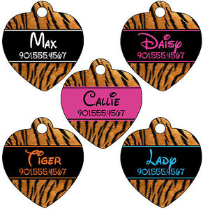 Image Is Loading Disney Font Animal Print Pet Id Tag For