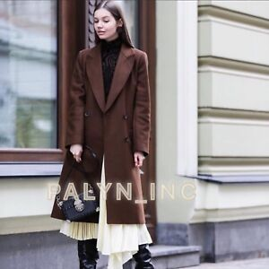 3839223f0bb Image is loading RARE-NWT-ZARA-AW18-DARK-BROWN-DOUBLE-BREASTED-