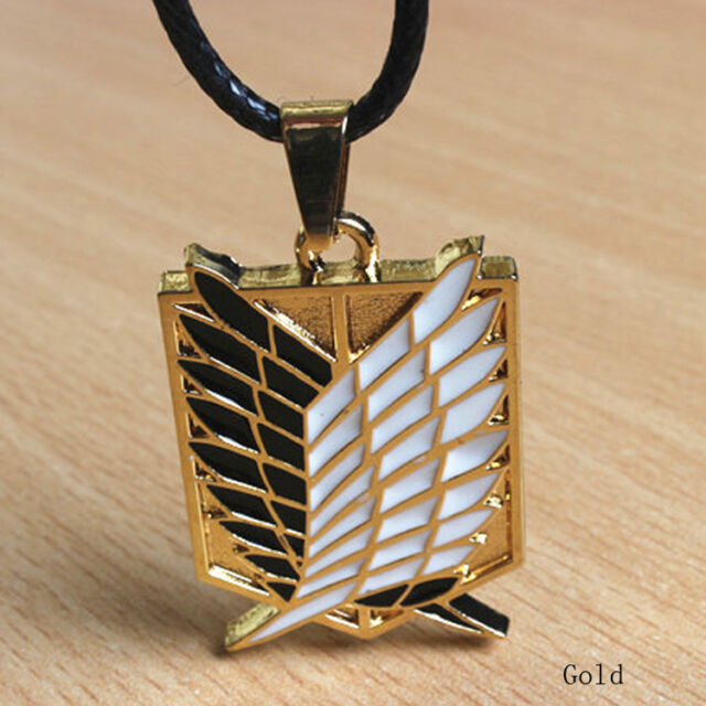 Anime Attack On Titan Shingeki no Kyojin Cosplay Necklace Scouting Legion Gold