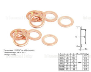 USA CF100 Copper Gasket High Vacuum Pump Flange Fitting Parts Conflat Flanges