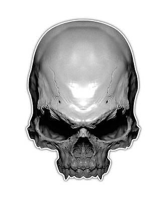 2 Skull Decal - Dead Bones Sticker Human Head Biker laptop ipad kindle decals