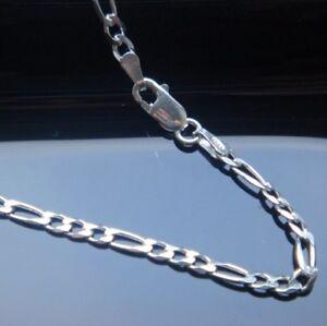 Rational Figaro Kette Echtem 925 Er Silber 2,5 Mm 45 Cm Silberkette Reinweiß Und LichtdurchläSsig Halsketten & Anhänger Echtschmuck
