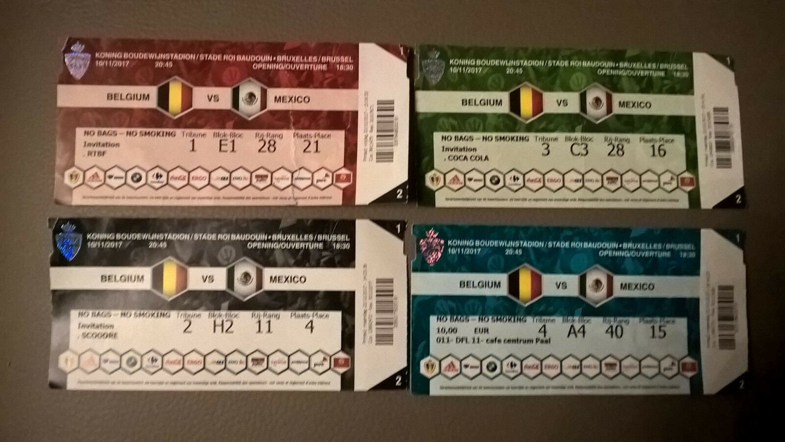 TICKET : BELGIUM AMICAL - MEXICO 10-11-2017 AMICAL BELGIUM WORLD CUP 2018 c025d8