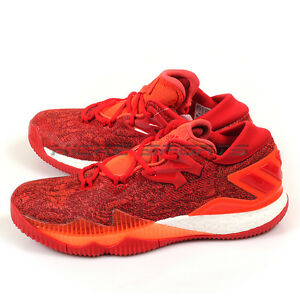 Image is loading Adidas-Crazylight-Boost-Low-2016-Solar-Red-Scarlet- 8c37fbe70183