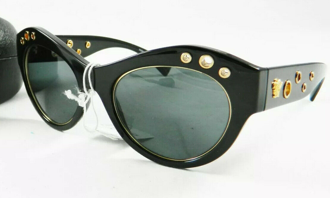 Authentic Versace Cateye 4320 Blkw/Gold Grommet Fashion Sunglasses NEW-SOLD OUT!