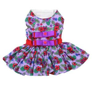 Doggie-Design-Purple-and-Red-Floral-Designer-Dog-Dress-with-Matching-Leash-XS-L