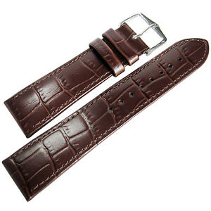 22mm-Hirsch-Louisiana-Brown-Alligator-Grn-Leather-Watch-Band-Strap-Louisianalook