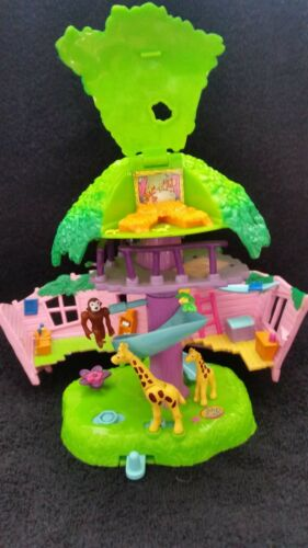 Polly Pocket JUNGLE PETS avec 3 animaux d'origine