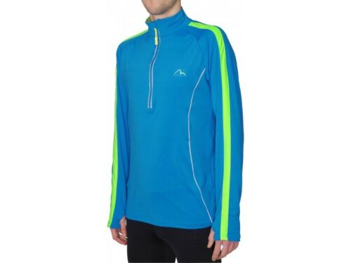 More Mile 14 Zip Long Sleeve Mens Reflective Running Top New