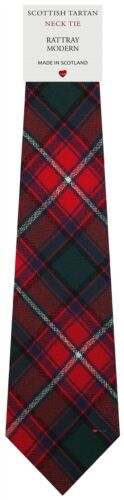 Mens Clan Tie Made in Scotland Rattray Modern Tartan