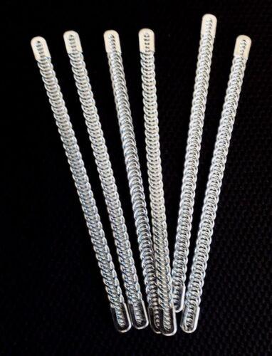 """14/"""" de largo 6 x Huesos De Metal Alambre Espiral suministros Corsé de 7MM Ancho proveedor de Reino Unido 5/"""""""