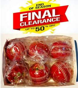 50 OVERS Premium Quality LEATHER 4 Piece 156gm Turf WHITE Cricket Ball 6 Balls
