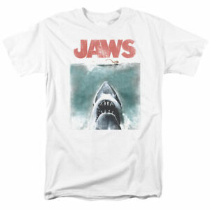 Jaws-Movie-Tee-Shirt-Vintage-Shark-Attack-Licensed-Adult-T-Shirt-Gift-Idea-New