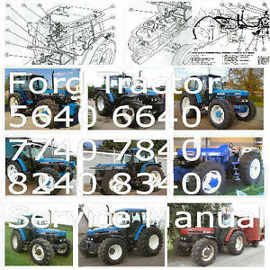 ford 5640 6640 7740 7840 8240 8340 tractor service manual shop ford 2000 tractor parts diagram image is loading ford 5640 6640 7740 7840 8240 8340 tractor