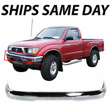 New Chrome - Steel Front Bumper Face Bar For 1995-1997 Toyota Tacoma 4WD Truck