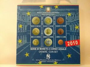 *italia Serie Zecca Euro 2010 9 Valori