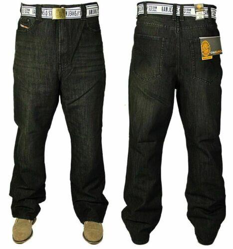 Nouveau KAM homme grande taille Jean Coupe Droite Denim Pantalon Sans Ceinture Incluse