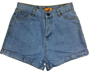 da 10 alta taglia vita oversize a a donna Pantaloncini jeans alta vita alta a vita Iq8w68CZxU