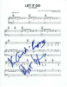 ROBERT-LOPEZ-KRISTEN-ANDERSON-LOPEZ-SIGNED-AUTOGRAPH-034-LET-IT-GO-034-SHEET-MUSIC