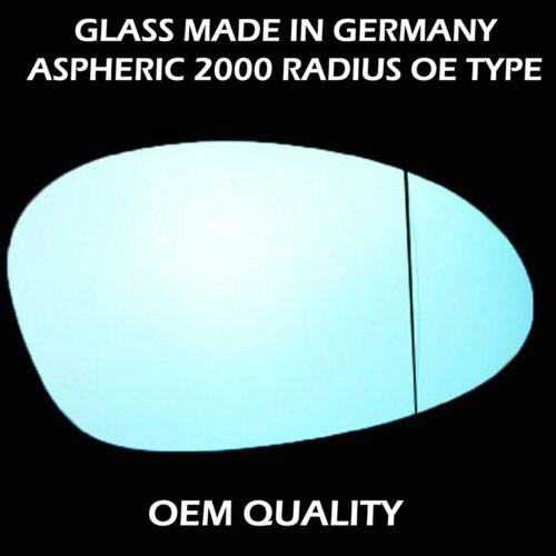 2003 to 2009 SEP Blue Ting Aspheric RHS Bmw 1series Wing Mirror Glass
