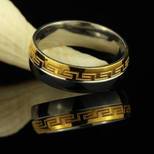 Anillo de acero inoxidable 750er oro 18 quilates dorado plata dorado señora caballero r2570