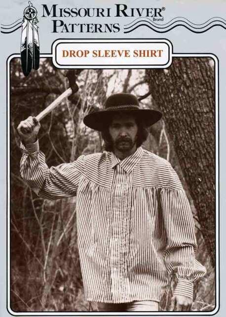Missouri River 1800-1850 Drop Sleeve Shirt Sewing Pattern Men & Women size S-XL