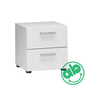 Kit comodino a 2 cassetti 40x40xh42 cm como 39 bianco cassettiera camera da letto ebay - Cassettiera camera letto ...
