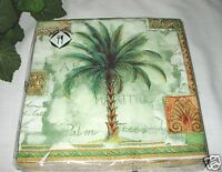 Mesafina - 20 Paper Luncheon Napkins 3 Ply Tropical Palm Trees -